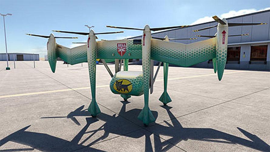 写真はヤマトホールディングスが実用化を目指している電動VTOL機のイメージ