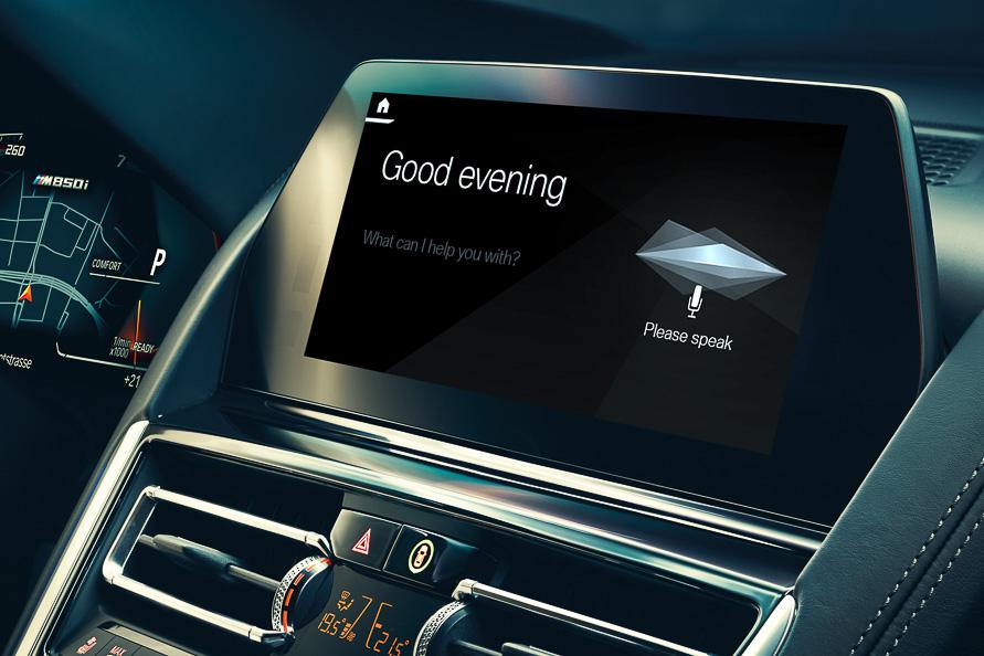 「OK、BMW」で起動するコネクティッドサービス