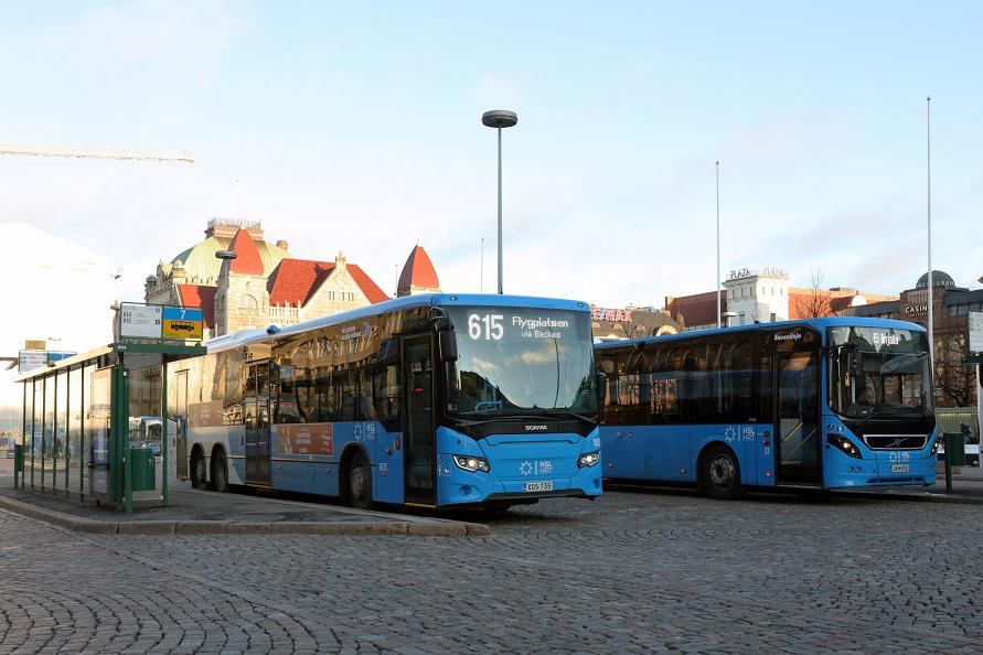 ヘルシンキでトラムやメトロとともに市民の足となっているのがバス。多くの路線が用意されている