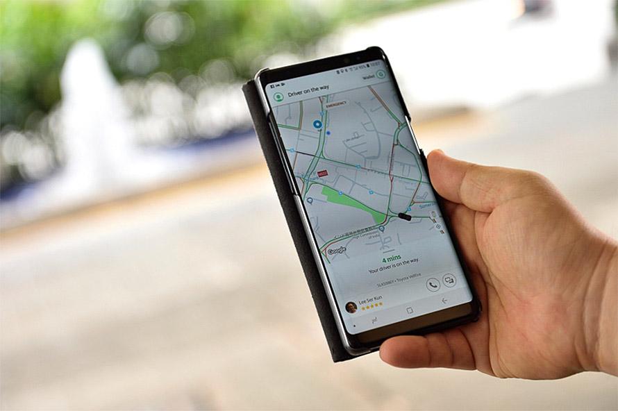 到着までの目安時間がアプリ上に表示される