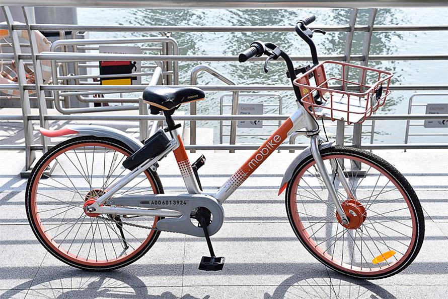 日本でも事業を展開しているMobikeのシェアサイクル