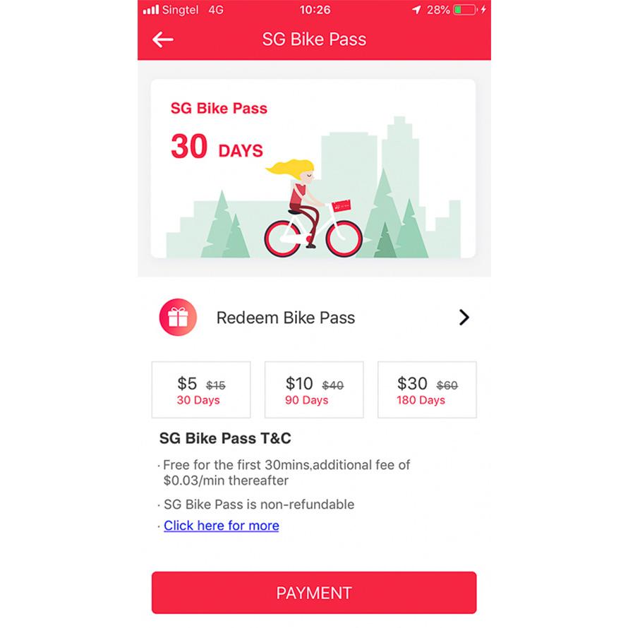 SG BIKEのアプリ