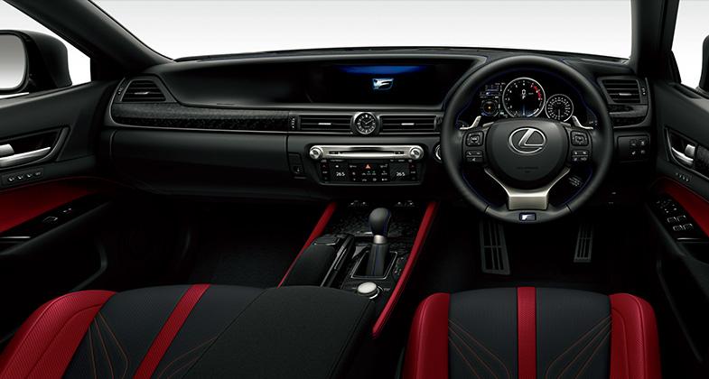 GS F(インテリアカラー:ブラック&アクセントフレアレッド)<オプション装着車>