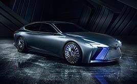 """レクサス、自動運転の実用化を見据えたフラッグシップコンセプトカー「LS+ Concept」を世界初公開 ―あわせて""""F""""10周年を記念した特別仕様車を発表―"""