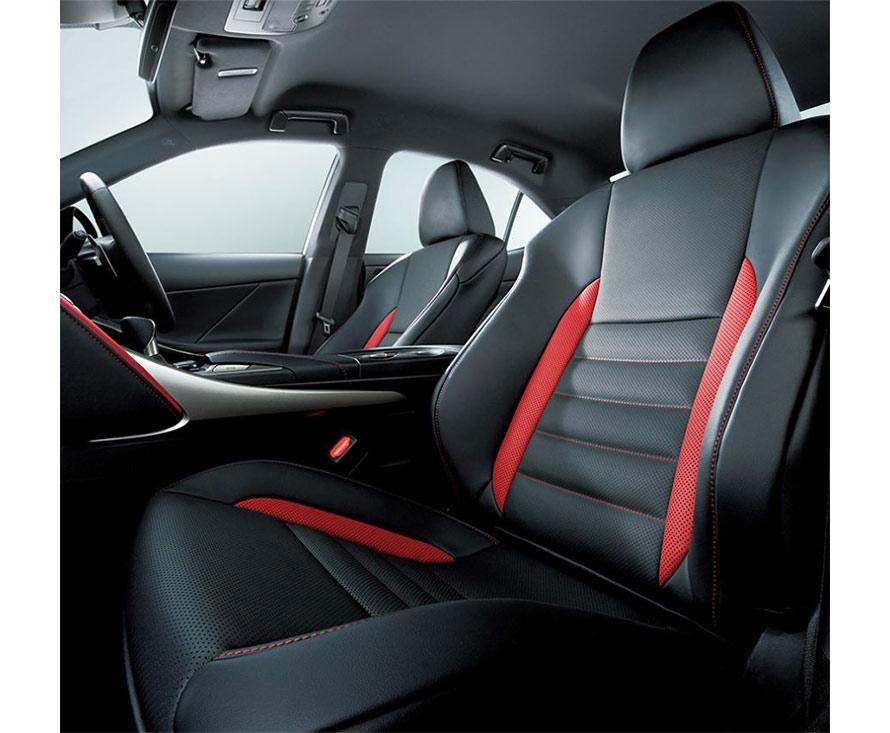 L texスポーツシート (特別仕様車専用ブラック/フレアレッド・フレアレッドステッチ)