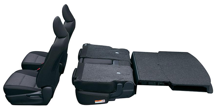 フラットラゲージモード(2列シート車)