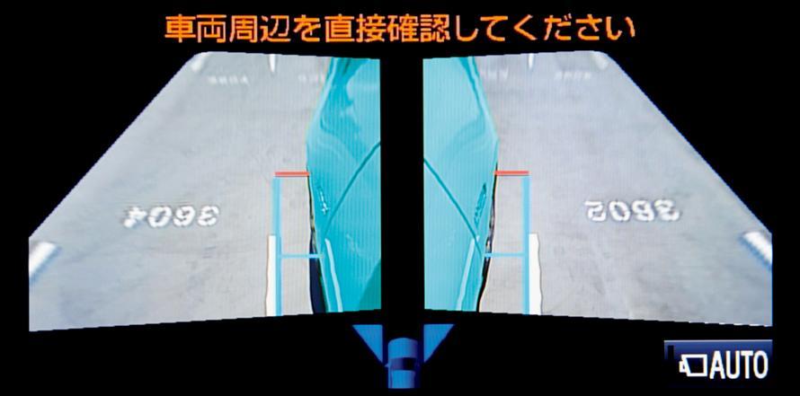 パノラミックビューモニター 左右サイドビュー 表示イメージ