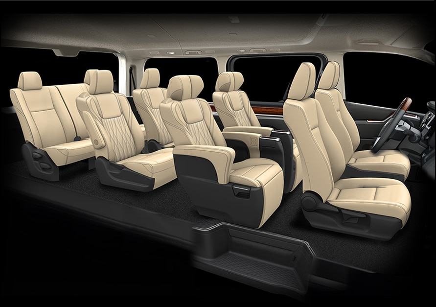 4-row 8-seater design sketch