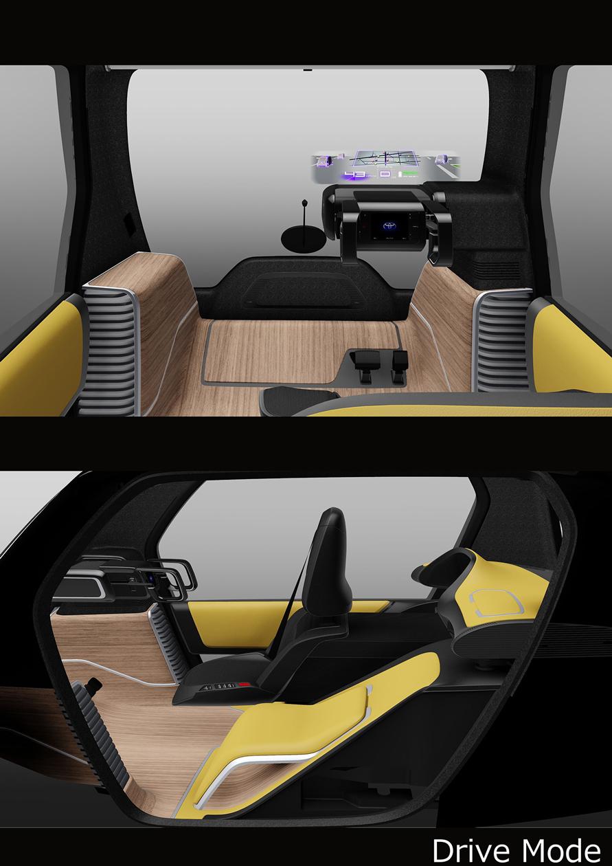 Drive mode(超小型EV ビジネス向けコンセプトモデル)