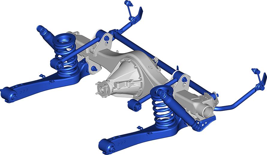 トレーリングリンク車軸式リヤサスペンション