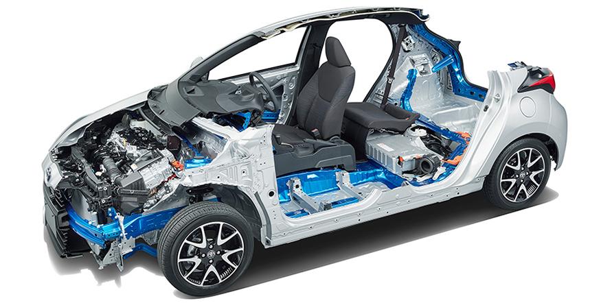 新開発コンパクトカー向けTNGAプラットフォーム(GA-B)を採用
