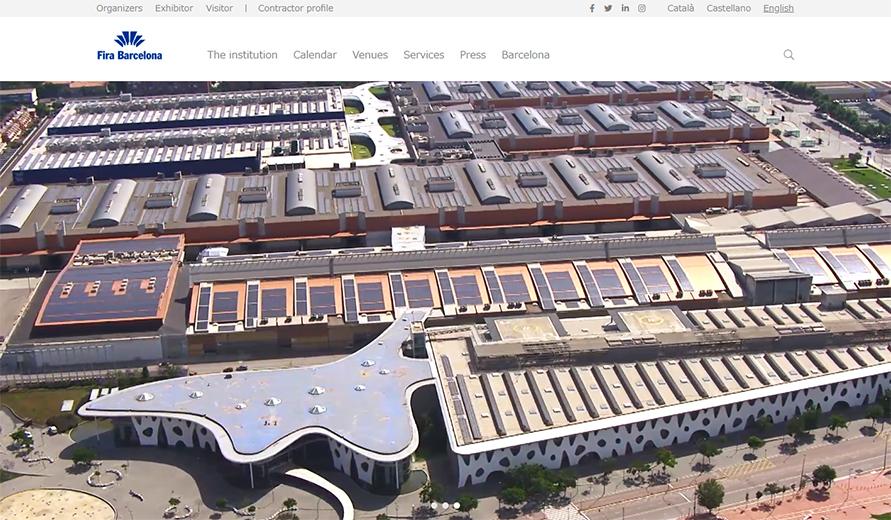 スマートシティエキスポはバルセロナ新市街中心にある巨大な展示会場「Fira Barcelona Gran Via」で開催されるhttps://www.firabarcelona.com/en/