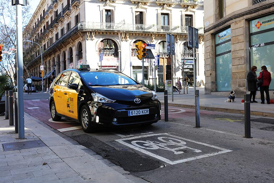 エコなタクシー、プリウスくん。バルセロナのタクシー会社で多く採用されている
